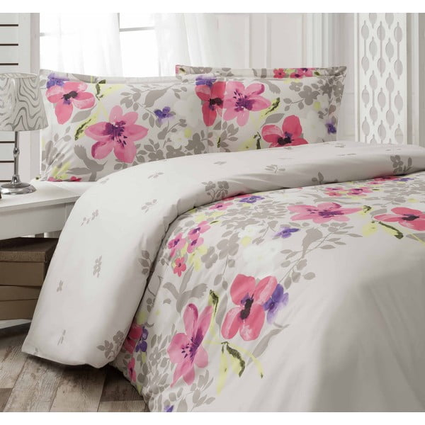 Obliečky Kallavi Grey/Pink, 200x220 cm