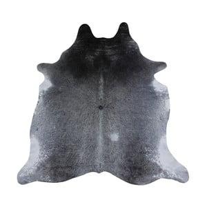 Sivý koberec z hovädzej kože, 220 x 180 cm