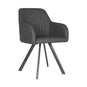 Tmavo-sivá jedálenská stolička LABEL51 Floor
