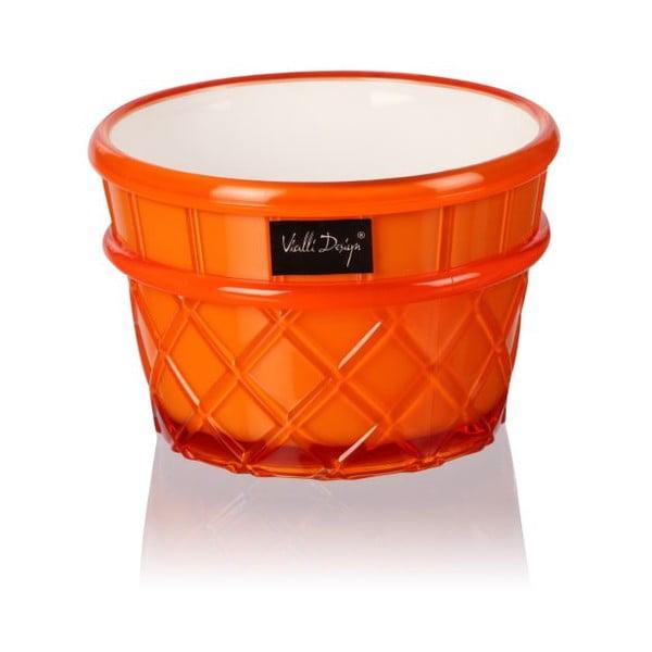 Oranžový pohár na dezert Vialli Design Livio, 266 ml