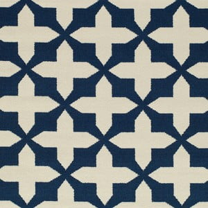 Tmavomodrý koberec Nourison Baja Chivay, 290×201cm