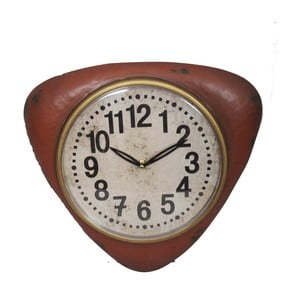 Červené nástenné hodiny Antic Line Red Vintage