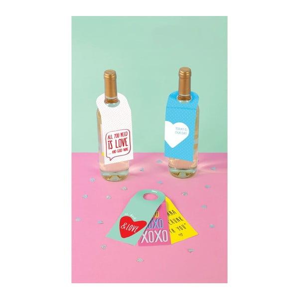 Sada 10 kartičiek na víno Love Winetags