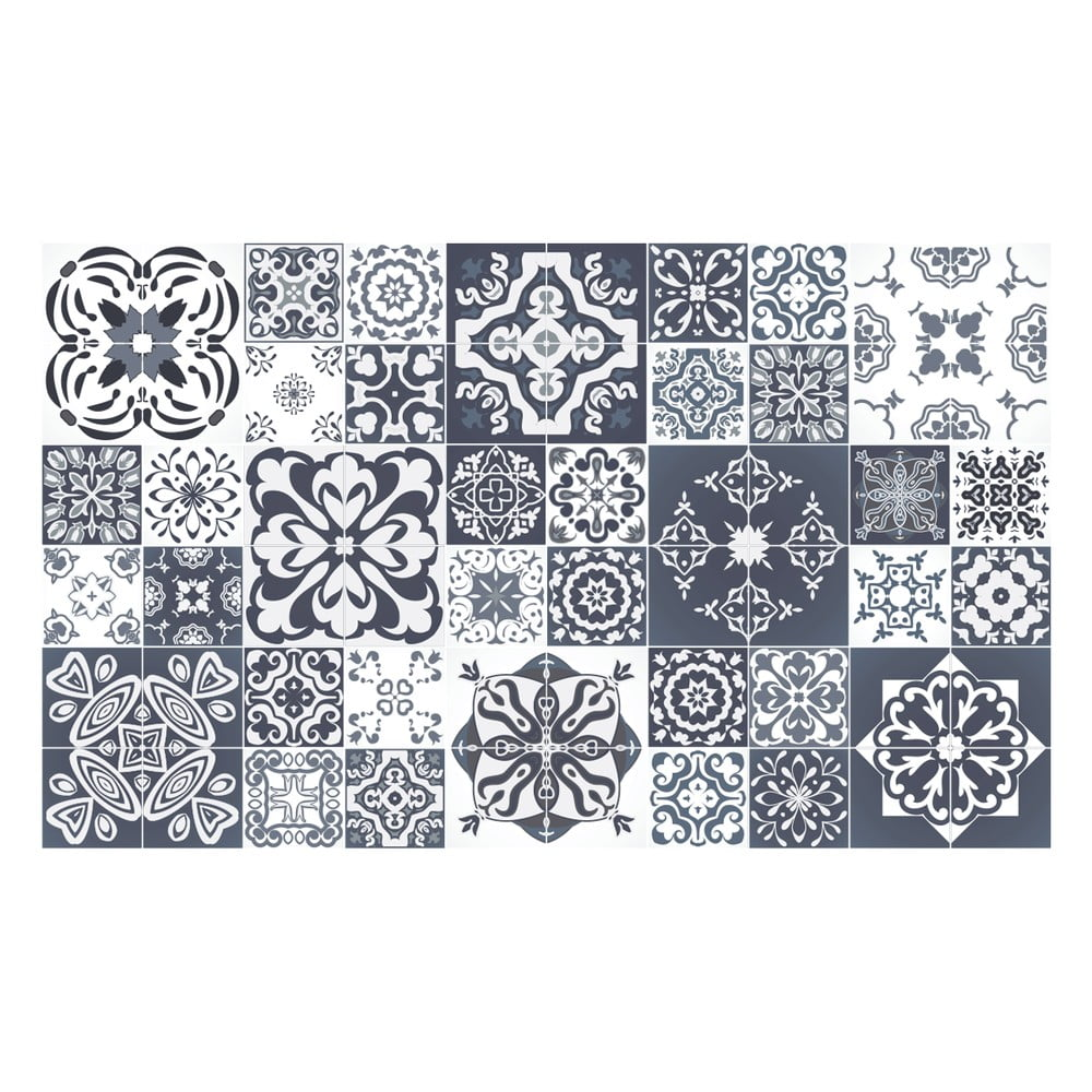 Sada 60 dekoratívnych samolepiek na stenu Ambiance Tanoura Simple, 10 × 10 cm