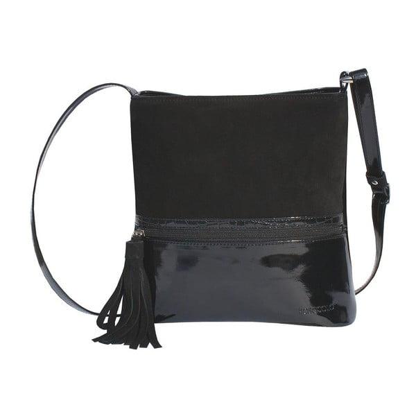 Kožená kabelka Boscollo Black 2086