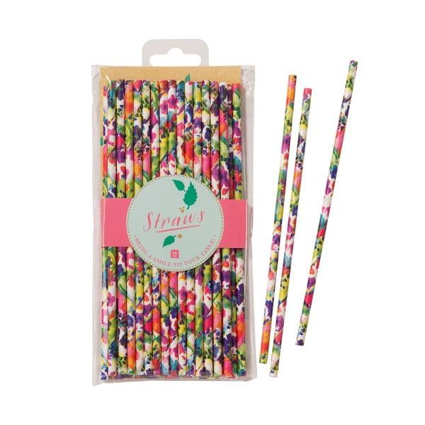 Sada 30 papierových slamiek Talking Tables Floral Fiesta