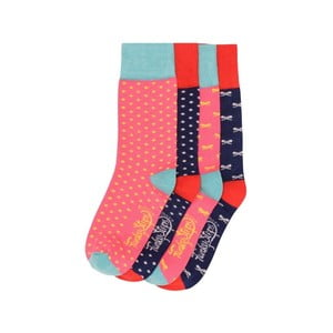Sada 4 párov farebných ponožiek Funky Steps Mister, veľ. 35-39
