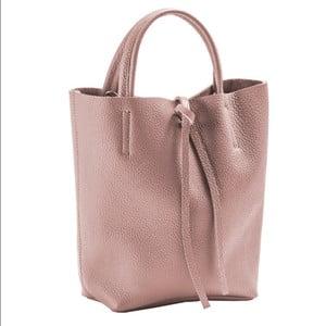Svetloružová kabelka z pravej kože Andrea Cardone Kuliga
