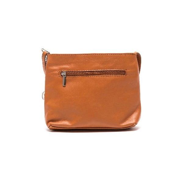 Kožená kabelka Roberta M 241s Cognac