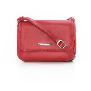 Červená kožená kabelka Gianni Conti Priscilla