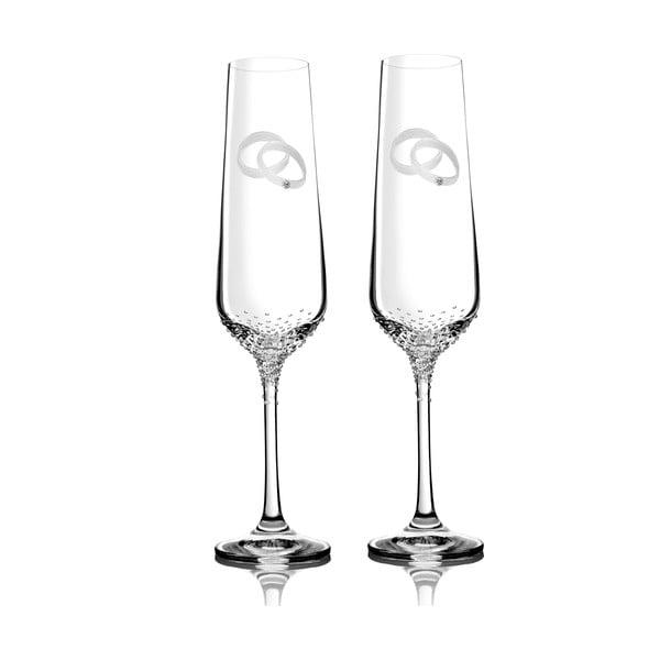 Sada 2 pohárov na šampanské Mania so Swarovski Elements v luxusnom balení
