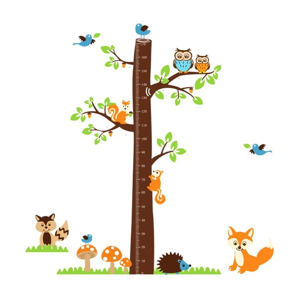 Dekoratívna samolepka Tree & Little Owls, 185x182 cm