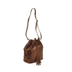 Kožená kabelka Zosca, hnedá