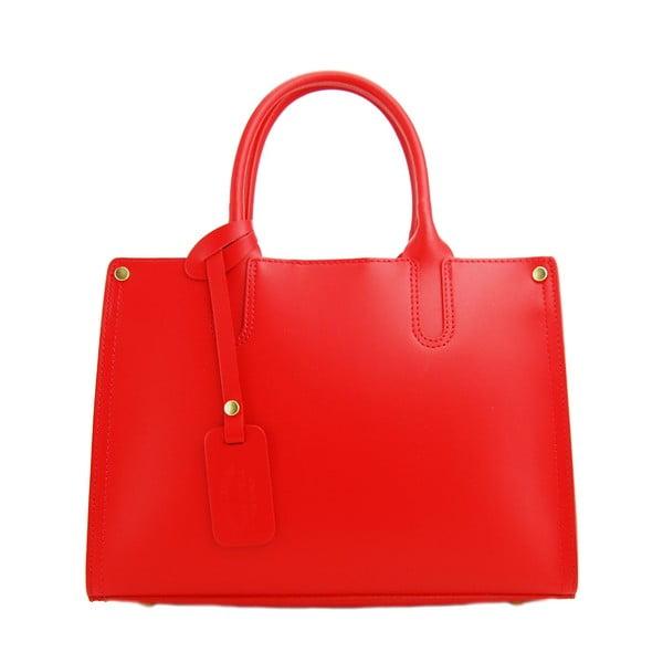 Kožená kabelka Entana Rosso