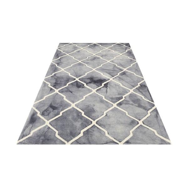Ručne tuftovaný sivý koberec Bakero Batik, 153 x 244 cm
