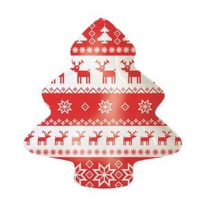 Porcelánová dekoratívna tácka s vianočným motívom PPD Magic Rojo Christmas