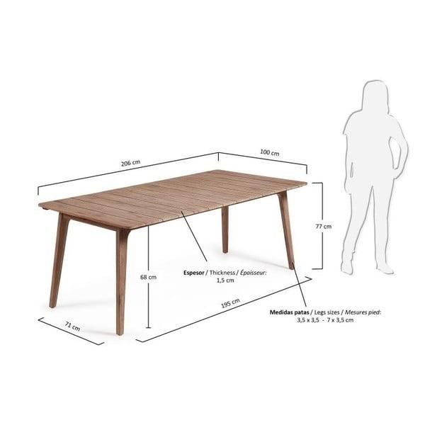 Jedálenský stôl Kenitra, 206x100 cm
