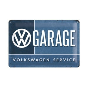 Plechová ceduľa VW Garage, 20x30 cm