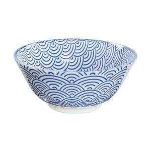 Modrá porcelánová miska Tokyo Design Studio Wave, ⌀ 15,2 cm