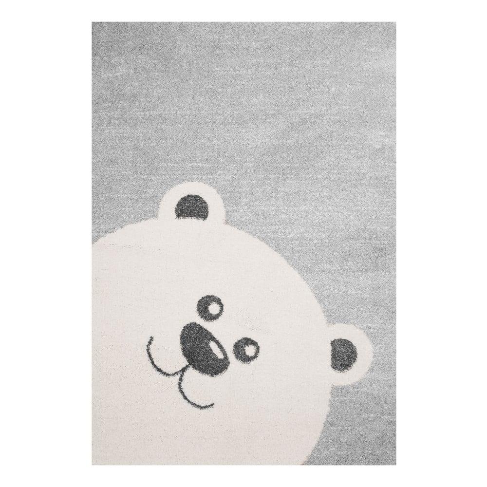Detský sivý koberec Zala Living Bear, 120 × 170 cm