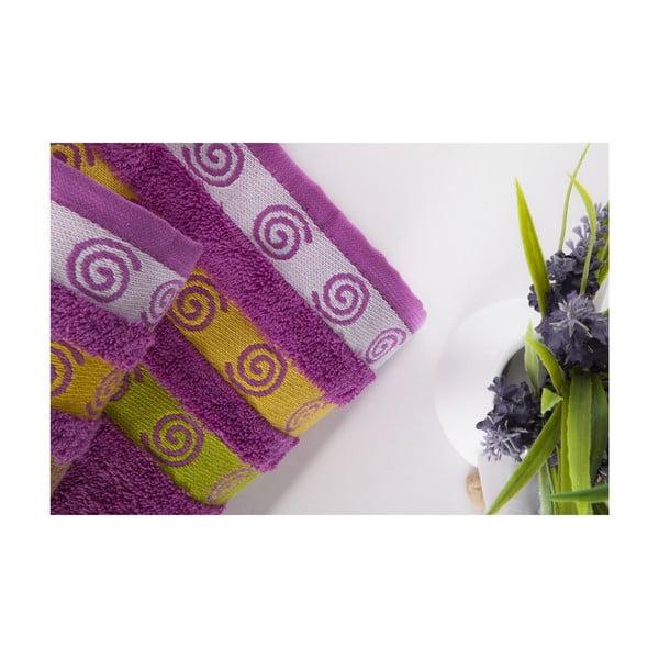 Sada 2 osušiek Truva Lilac, 90x150 a 50x90 cm