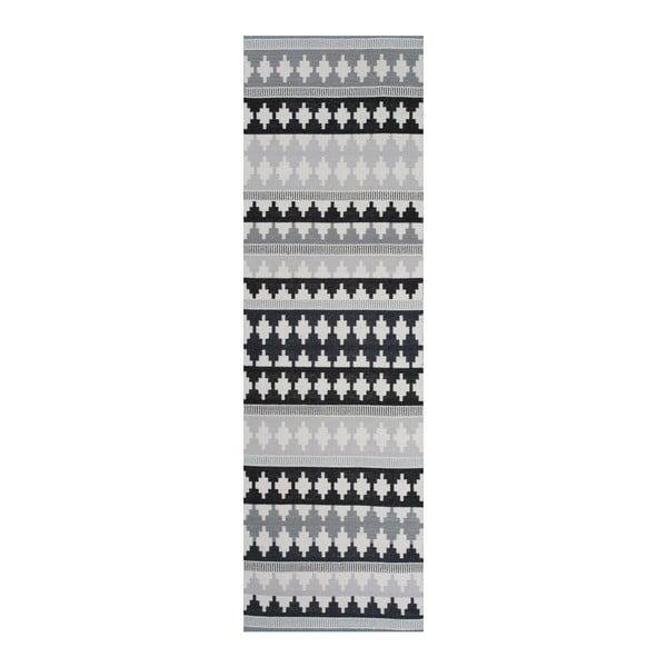 Sivý bavlnený koberec Linie Design Nantes, 80x250cm