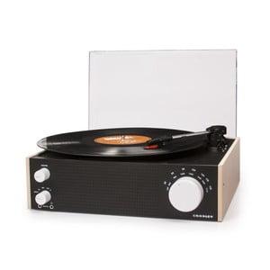 Čierny gramofón s rádiom Crosley Switch