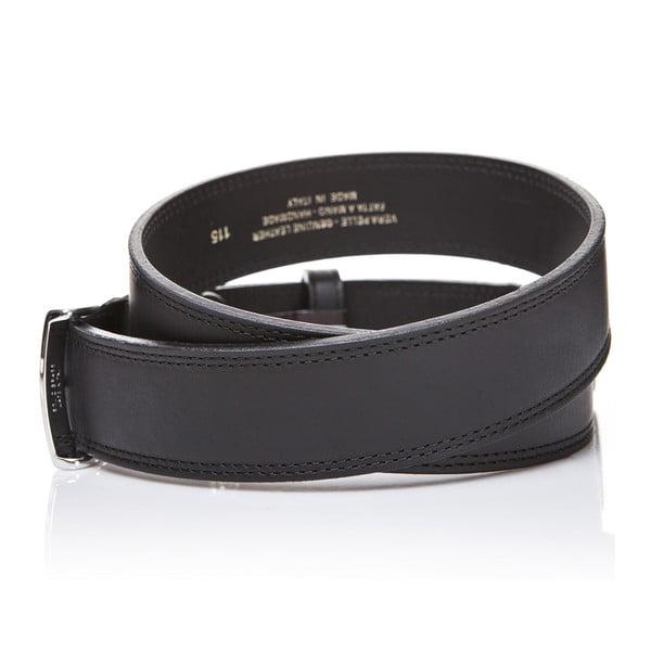 Kožený opasok Elegant Black, 125 cm