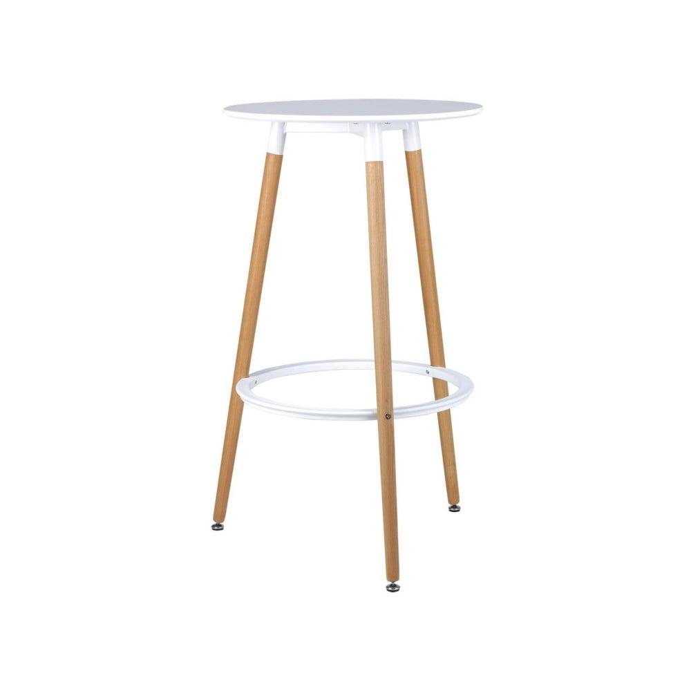 Bielo-hnedý barový stôl sømcasa Thea, výška 105 cm