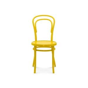 Žltá drevená stolička Fameg Jesper
