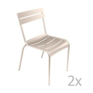 Sada 2 krémových stoličiek Fermob Luxembourg