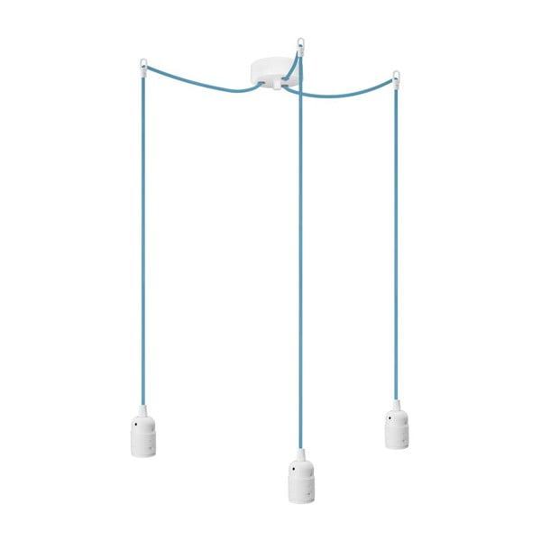 Tri závesné káble Uno, modrá/biela