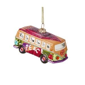 Vianočná závesná ozdoba zo skla Butlers Hippie Autobus