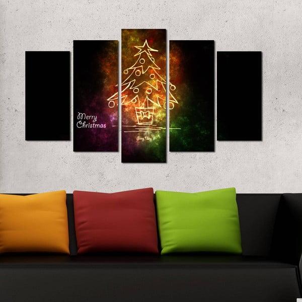 Päťdielny obraz Christmas no. 2, 110x60 cm