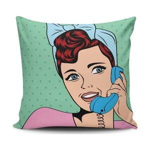 Vankúš s prímesou bavlny Cushion Love Pop Art, 45 × 45 cm
