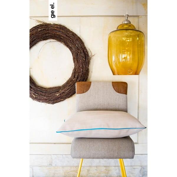 Vankúš s tyrkysovým lemom 40x60 cm