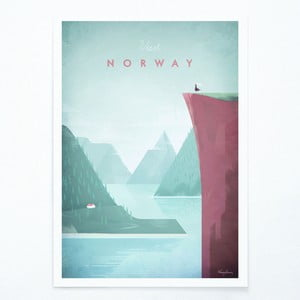 Plagát Travelposter Norway, A3