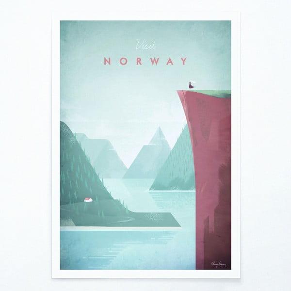 Plagát Travelposter Norway, A2