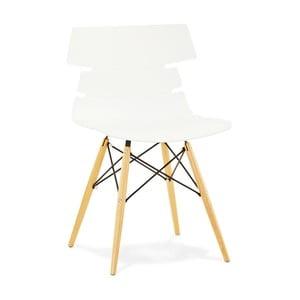 Biela jedálenská stolička Kokoon Design Strata