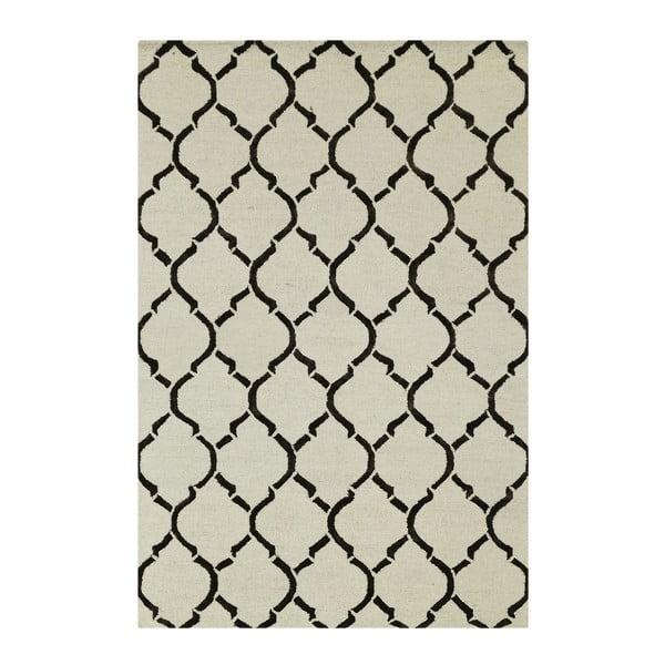 Koberec Chain Ivory/Brown, 153x244 cm