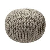 Béžovosivý pletený puf ZicZac