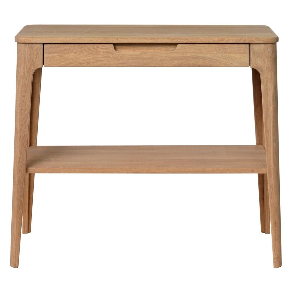 Odkladací stolík z dreva bieleho duba Unique Furniture Amalfi