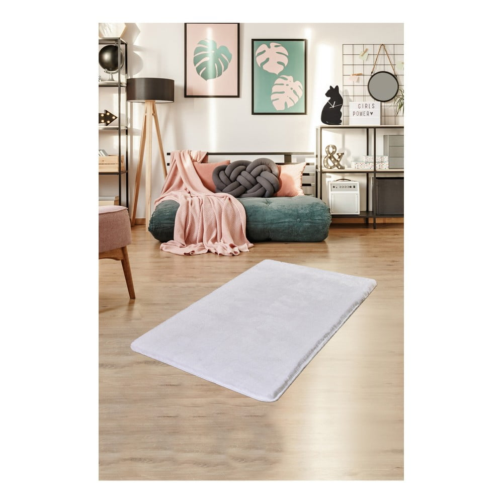Biely koberec Milano, 120 × 70 cm