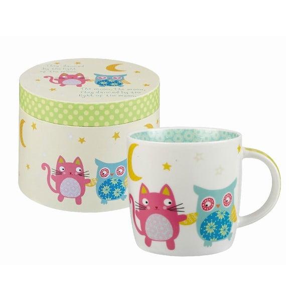 Hrnček v darčekovom boxe Owl & Cat Moon, 284 ml