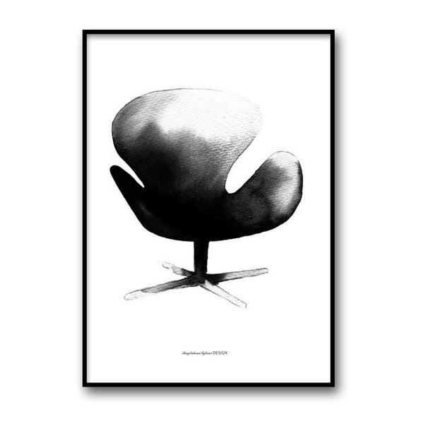 Autorský plagát Swan Chair, 50x70 cm