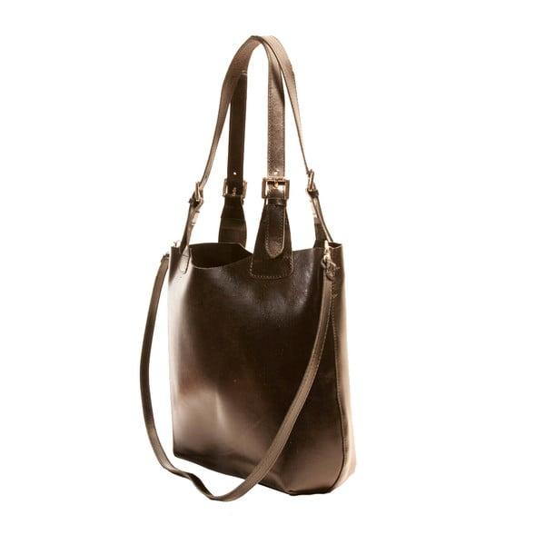 Čierna kabelka z pravej kože Andrea Cardone Stefano