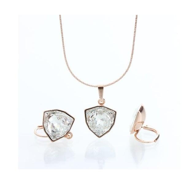Set náhrdelníku a náušníc Laura Bruni Geometric Golden