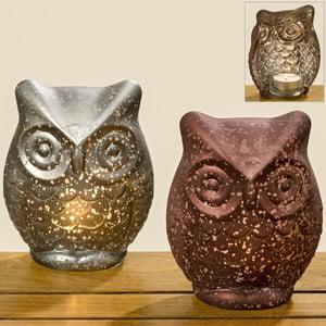Sada 2 sklenených svietnikov Boltze Owl