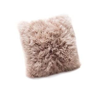 Svetlohnedý vankúš z ovčej kožušiny Royal Dream Sheepskin, 45 x 45 cm