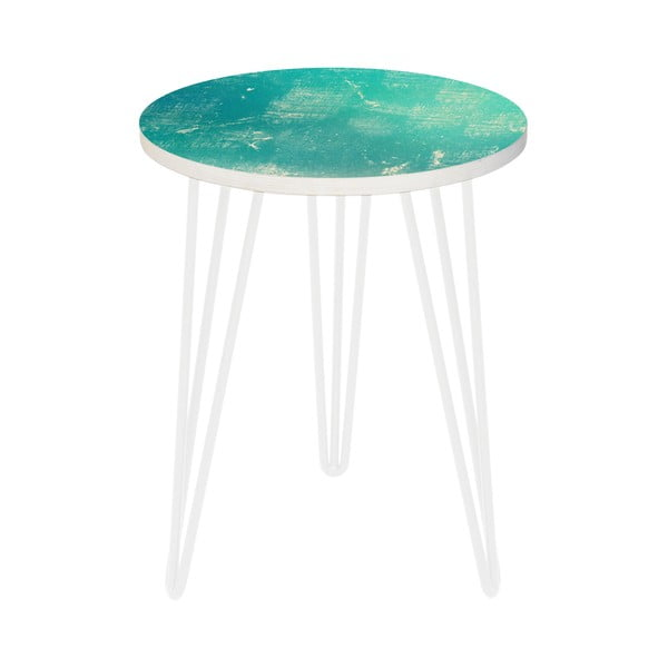 Sada 2 odkladacích stolíkov Vintage Turquoise, 35 cm + 49 cm